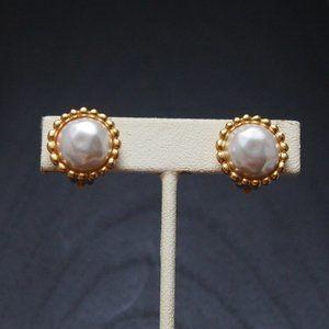 New! Vintage Anne Klein Pearl Rope Earrings